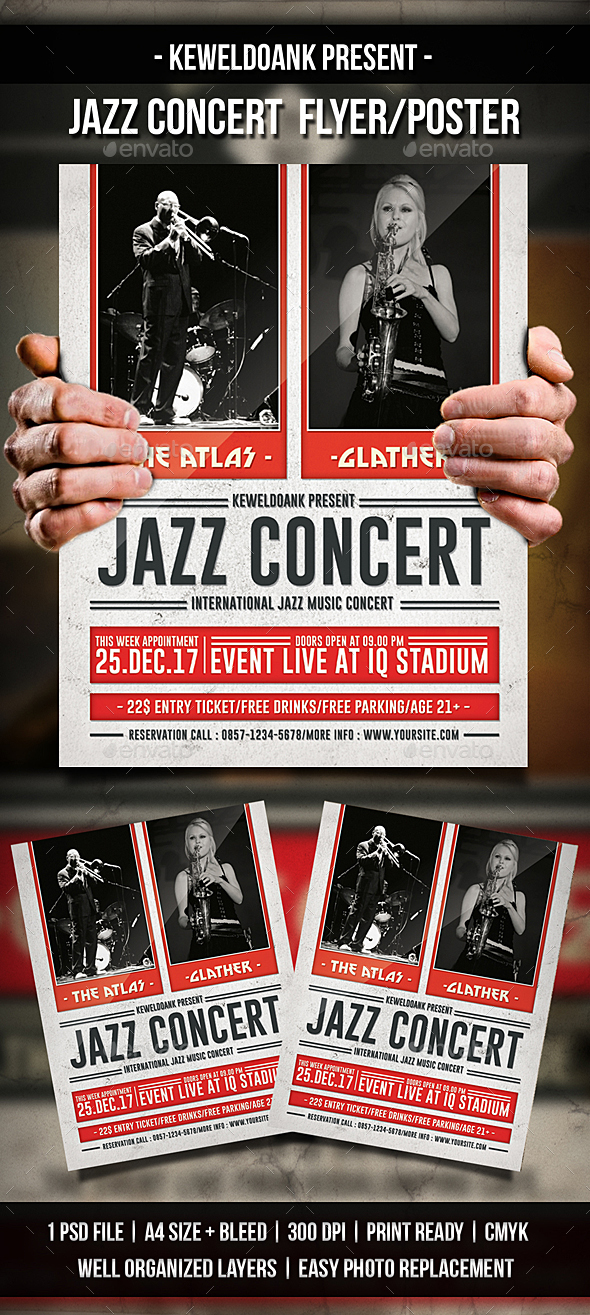 Jazz Concert Flyer / Poster - Concerts Events
