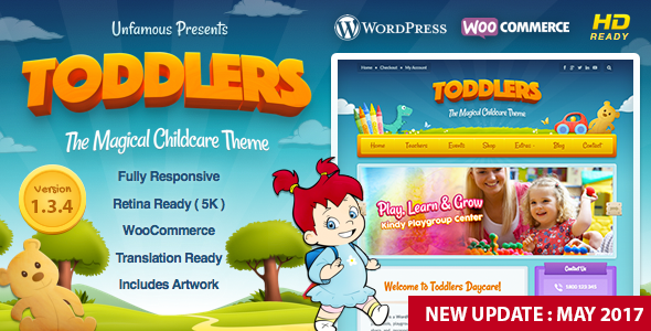 Toddlers - Kids, Child Care & Playgroup WordPress Theme - WooCommerce eCommerce