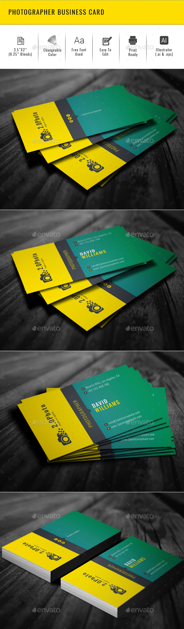 Photographer Business Card - Creative Business Cards