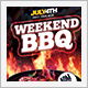 Weekend Barbecue BBQ Party Flyer - GraphicRiver Item for Sale
