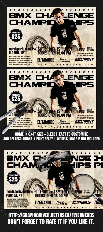 BMX Challenge Championships Sports Flyer - Sports Events