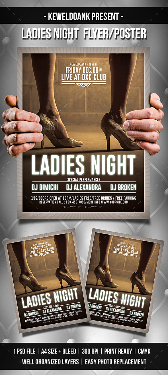 Ladies Night Flyer / Poster - Clubs & Parties Events