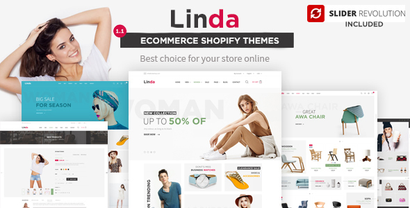 Linda – Multi-purpose Shopify Theme with Drag & Drop section builder
