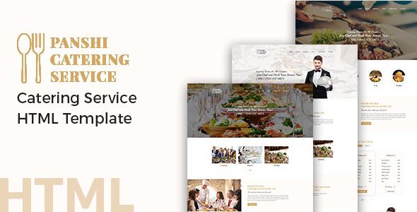 Panshi - Catering Service HTML Template - Restaurants & Cafes Entertainment