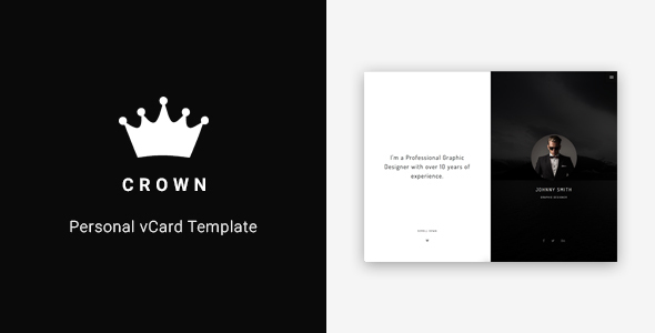 Crown – Personal vCard Template