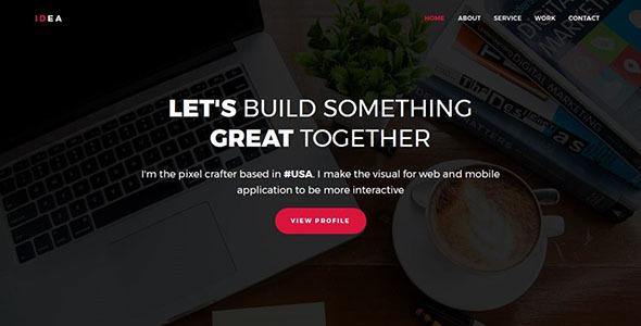 IDEA – Personal Portfolio Template