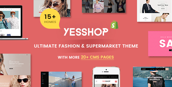 YESSHOP | Responsive Multi-Purpose Shopify Theme -  Fashion,Clothing,Minimal,Glasses,Baby