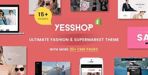 YESSHOP | Responsive Multi-Purpose Shopify Theme -  Fashion,Clothing,Minimal,Glasses,Baby - Fashion Shopify