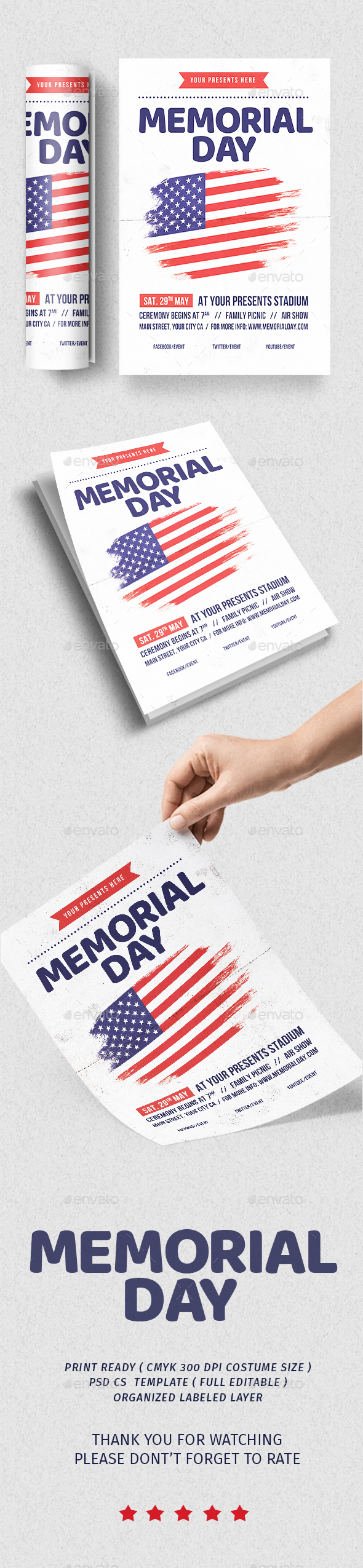 Memorial Day Flyer vol.2 - Flyers Print Templates
