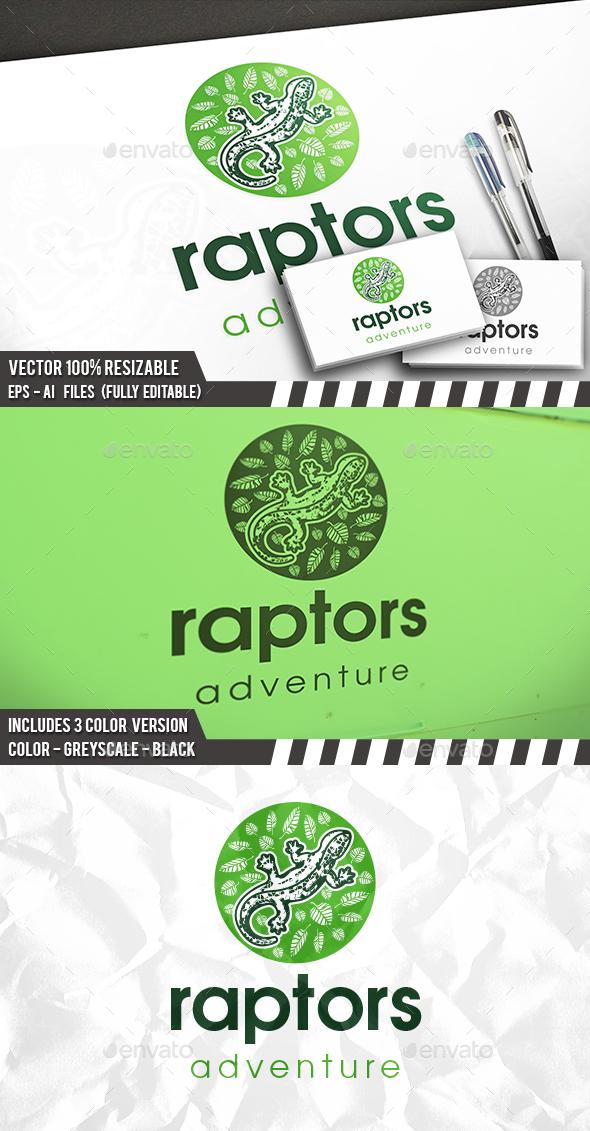 Jungle Lizard Logo - Animals Logo Templates