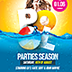 Pool Parties Season Flyer - GraphicRiver Item for Sale