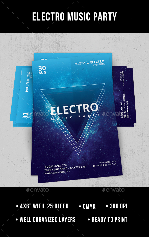 Electro Music Party - Flyer - Clubs & Parties Events