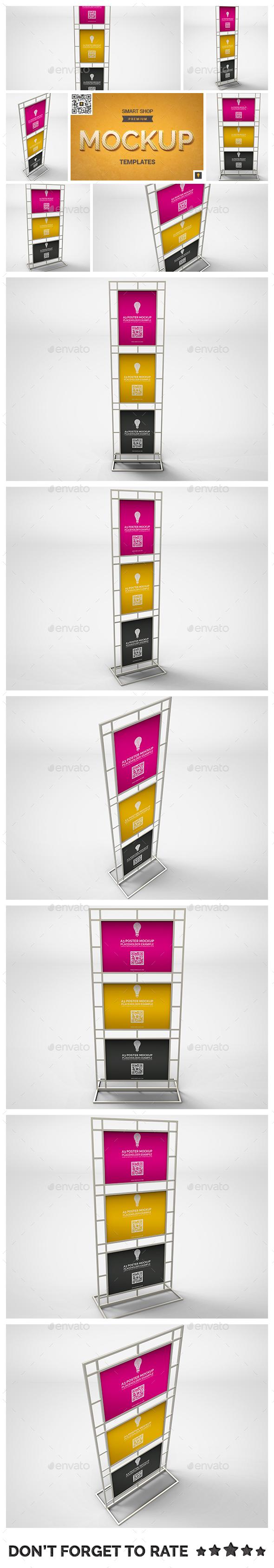 Poster Stand Display Mockup - Posters Print