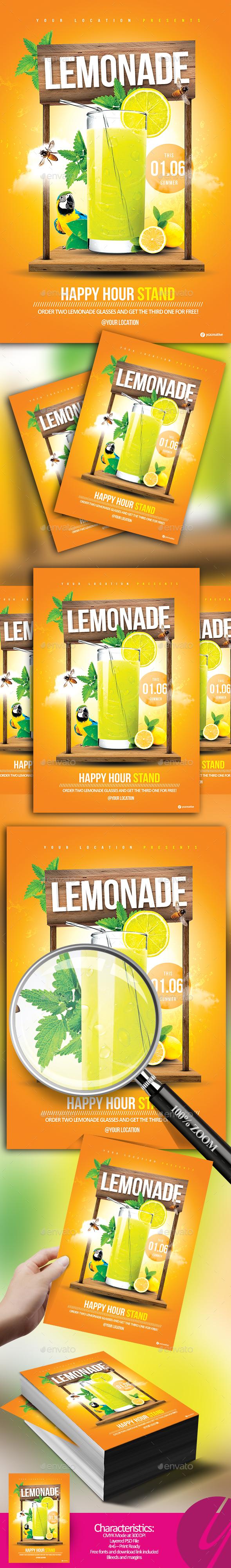 Lemonade Stand Flyer - Restaurant Flyers