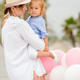Trendy mother with a baby daughter - PhotoDune Item for Sale
