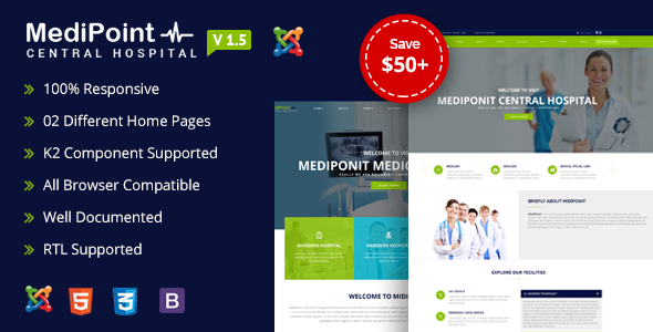 MediPoint | Joomla Medical Template - Business Corporate