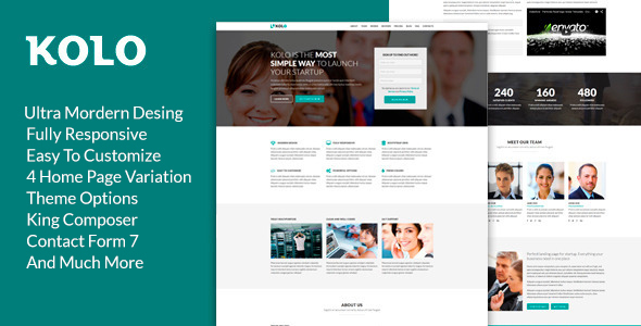 Kolo -  Startup Landing Page WordPress Theme - Technology WordPress
