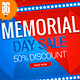 Memorial Day Facebook Promotion Banners