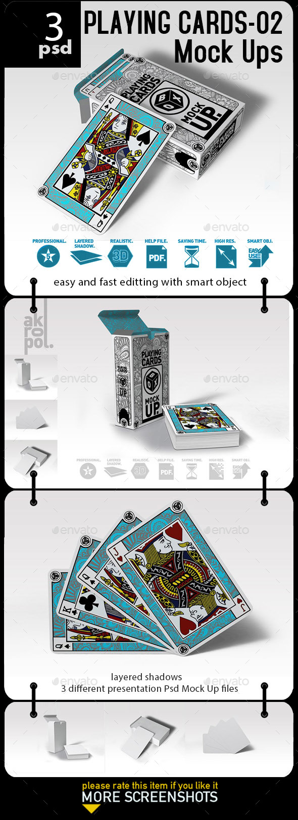 Playing Cards_02 Mock Up - Miscellaneous Print
