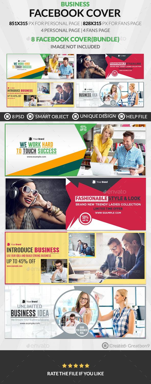 Facebook Cover Bundle(vol : 3) - 4 Design - Facebook Timeline Covers Social Media