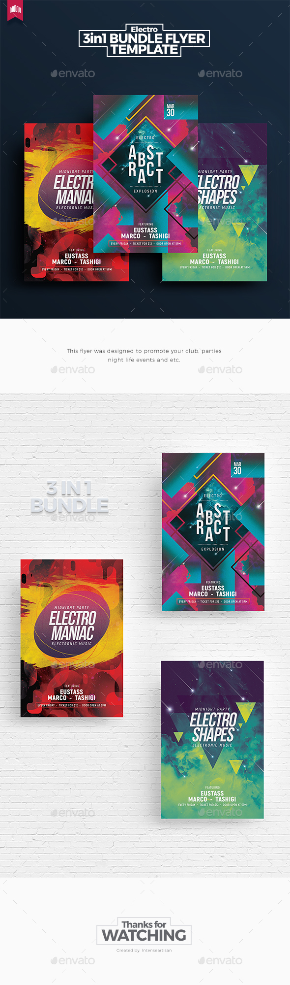 Electro Bundle 5 - Flyer Template - Clubs & Parties Events