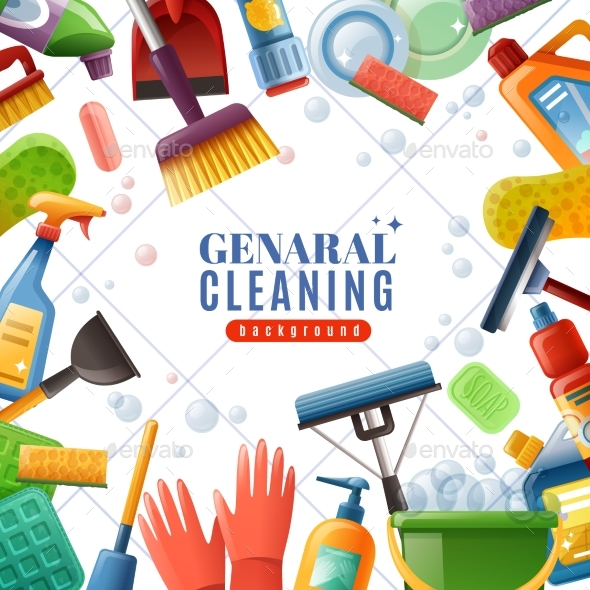 General Cleaning Frame - Backgrounds Decorative
