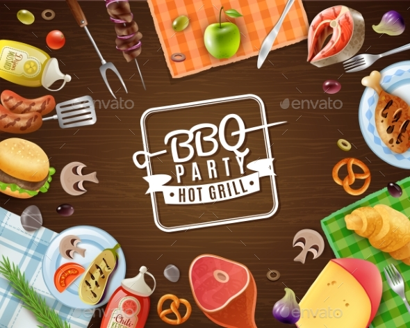 BBQ Party Frame - Food Objects