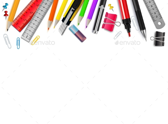 Stationery Realistic Background - Backgrounds Decorative