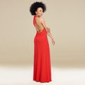 Elegant African American woman in a red gown - PhotoDune Item for Sale