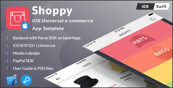 Shoppy | iOS Universal eCommerce App Template (Swift) - CodeCanyon Item for Sale