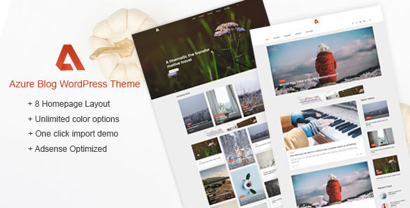 Azure - Blog WordPress Themes