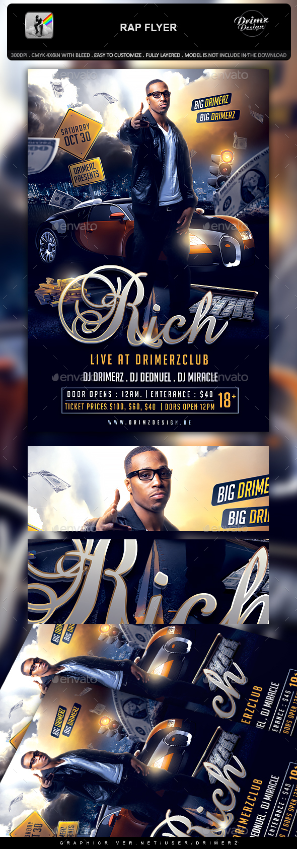Rap Flyer - Events Flyers