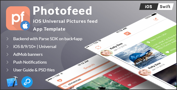 Download Source code              Photofeed | iOS Universal Social Photo feeds App Template (Swift) nulled version