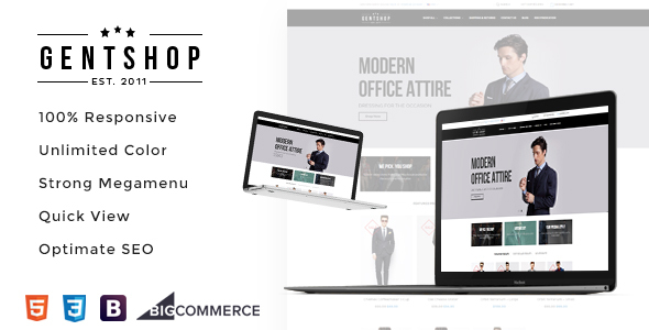 AP Gentshop Responsive Bigcommerce Theme Template - BigCommerce eCommerce