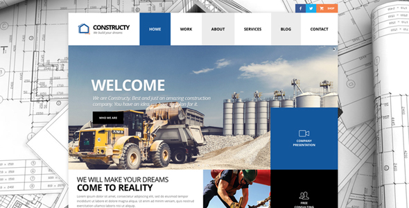 Constructy - Construction Business Building Theme - Business Corporate