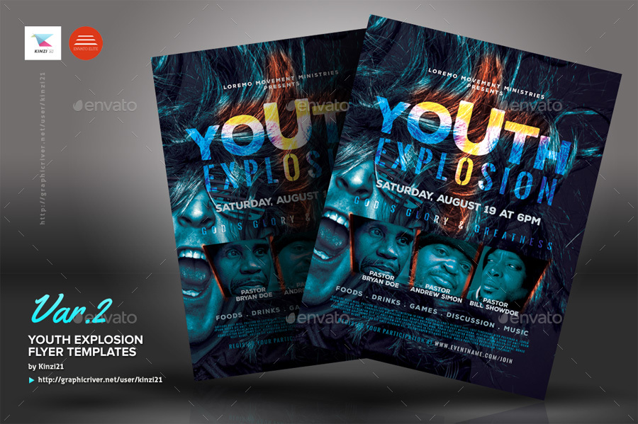 youth explosion flyer templates by kinzi21