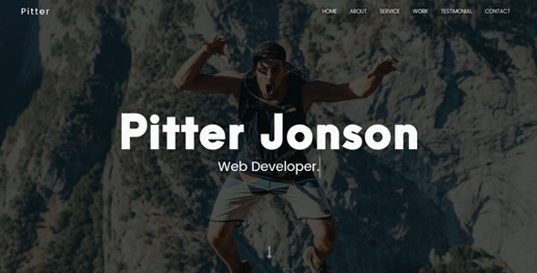 Pitter - Personal Portfolio Template