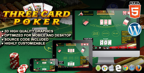 Three Card Poker - HTML5 Casino Game - CodeCanyon Item for Sale