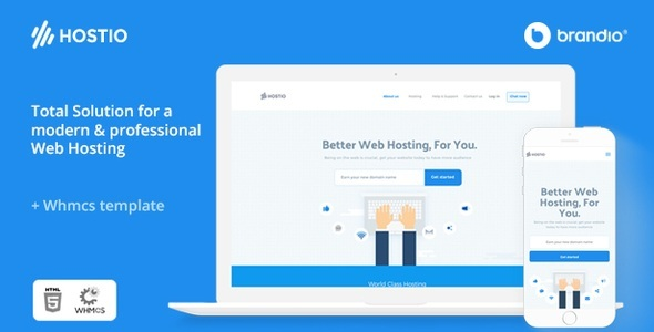 Hostio HTML & WHMCS Web Hosting WordPress Theme