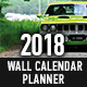 2018 Wall Calendar Planner Template - GraphicRiver Item for Sale