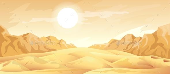 Desert Landscape Background - Landscapes Nature