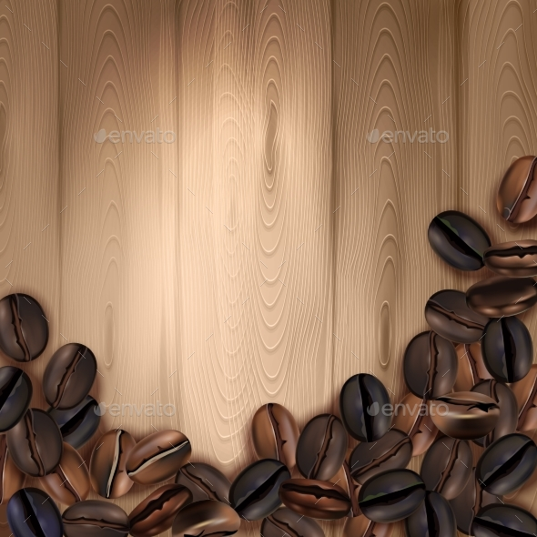 Coffee Beans Realistic Background - Backgrounds Decorative