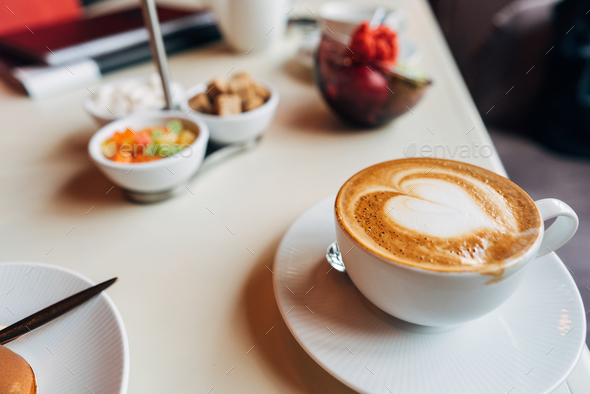 Latte on the table - Stock Photo - Images