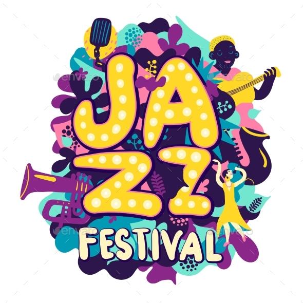 Jazz Festival Composition - Miscellaneous Vectors