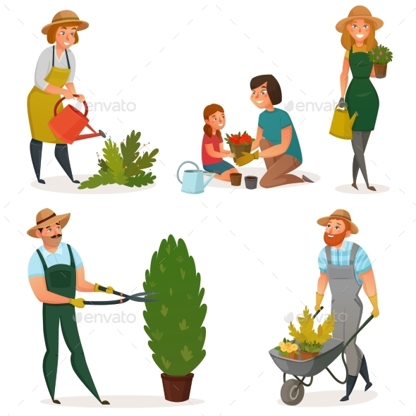 Gardening Hobby Icon Set - Miscellaneous Vectors