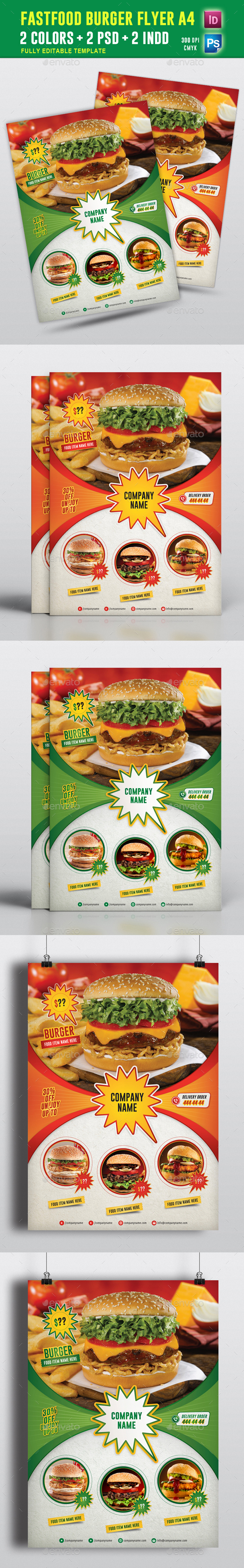 FastFood Burger Fyler Vol 01 - Restaurant Flyers
