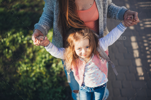 Mom and daughter are having fun - Stock Photo - Images