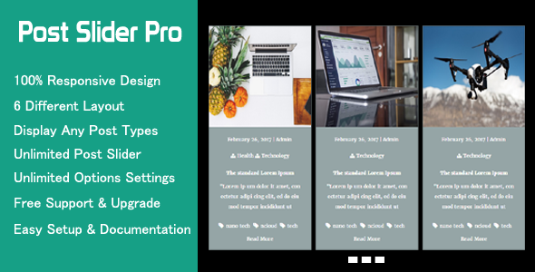 Post Slider Pro - Advanced WordPress Post Slider - CodeCanyon Item for Sale