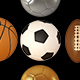 3D Sports Balls in Stylish Olympic Colors - GraphicRiver Item for Sale