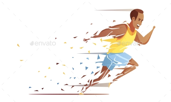 Track Athlete Shredding Concept - People Characters